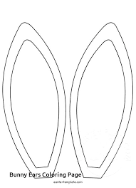 Printable Bunny Ears Pattern Templates Rabbit Template Letter Free