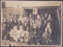 Country Of Origination Of Halloween by An Amazing Antique Photo Of People In Costume At An 1800s