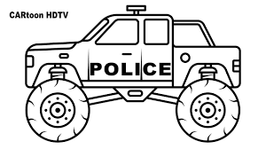 100 Monster Truck Grave Digger Videos Coloring Pages Coloring Book World Maxresdefault Police