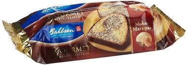 bahlsen gourmet mohn marzipan kuchen 2er pack 2 x 400 g