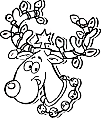 Splendid Design Reindeer Printable Coloring Pages Ready For Christmas