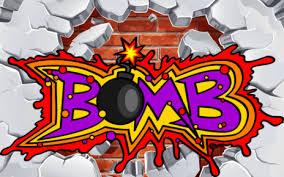 How To Draw Graffiti Word Art Bomb