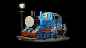Thomas The Tank Engine Wall Decor by Screenheaven Thomas The Tank Engine Graffiti Street Art Trains
