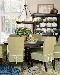 Love The Dining Room Green Slip Covers Great Rug And Light Fixture It All