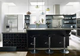 Deluxe Contemporary Apartment Kitchen Interior Decoration Awesome Kitchens Design With Dark Grey Island Tree Black Metal