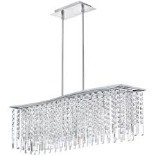 Rectangular Modern Crystal Chandelier Lighting For Large Contemporary Dining Room Chandeliers