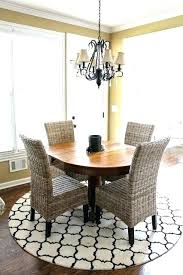 Carpet Under Dining Table Round Rug Square On