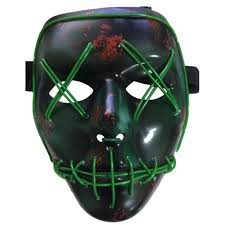 Halloween Club Purge Mask by Halloween Luminous El Wire Dj Led The Purge Movie Party Cosplay