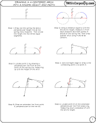 100 Arch D Rawing A 4Centered WKnown Height Width THISisCarpentry