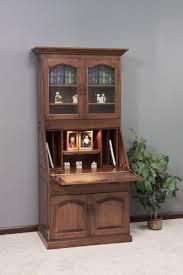 amish executive deluxe secretary desk with hutch top secretary