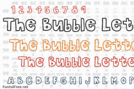 The Bubble Letters Font Download Fonts4Free