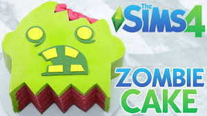 Nerdy Nummies Halloween Challenges by Sims 4 Zombie Cake Nerdy Nummies Youtube