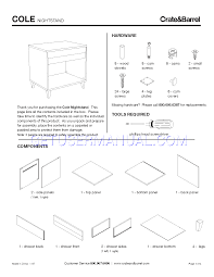 Crate And Barrel Leaning Desk White by Crate U0026 Barrel Tables Cole Nightstand Assembly Instruction