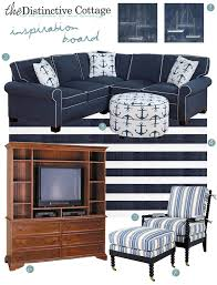 Nautical Style Living Room Furniture by Nautical Style Inspiration Board The Distinctive Cottage