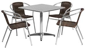 Aluminum Restaurant Table And Chair Set | 5-Piece Set Pplar Ikea Outdoor Ding Sets Komnit Fniture Set In Alinium European Design Saarinen Round Table Hivemoderncom Compare And Choose Reviewing The Best Teak Patio The Home Depot Hampton Bay Alveranda 7piece Metal With Hanover Monaco 7 Pc Two Swivel Chairs Four Alinum Restaurant Chair 5piece Rectangular Bench Barbeques Galore Styles Stone Harbor Taupe Polywood Official Store