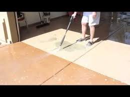 Sealing Asbestos Floor Tiles With Epoxy by Behr Epoxy Floor Paint From Home Depot Youtube