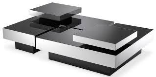 casa padrino luxus couchtisch set silber schwarz 2 l förmige wohnzimmertische mit 2 quadratischen tabletts wohnzimmer möbel luxus kollektion