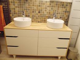 Ikea Hack Vessel Sink by Meuble Salle De Bain Double Vasque Ikea Hack Bathroom Vanities