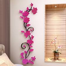 HOT 3D Mirror Wall Stickers Quote Flower Vase