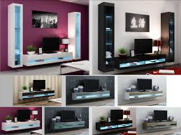 high gloss living room furniture tv stand wall mounted cabinet