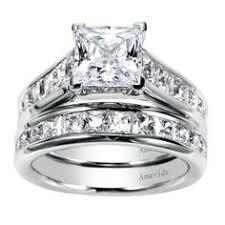 Princess Cut Diamond Wedding Ring Set