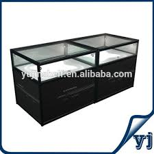 3 Feet Jewelry Shop Display Aluminum Glass Showcase Modern Locking Top Case