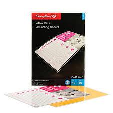 Swingline GBC SelfSeal Laminating Sheets 3 Mils Letter 9 x 12 Pack