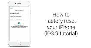 to factory reset Apple iPhone 6s and iPhone 6s Plus iOS 9 tutorial