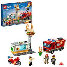 100 Fire Trucks Toys LEGO 60214 City Burger Bar Rescue Truck Toy Burger Bar