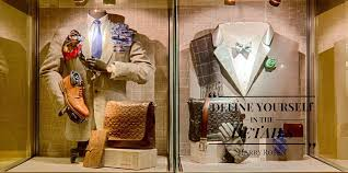 Store Window Displays Merchandising Arts Menswear Fabric Face Light Box For Marks And Spencerus Autograph