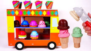 100 Toy Ice Cream Truck Playset Learn Colors With Candy And