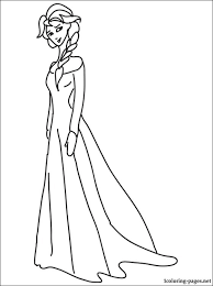 Queen Elsa Of Arendelle Also Known As The Snow Coloring Book With Princess Printable Page For Free