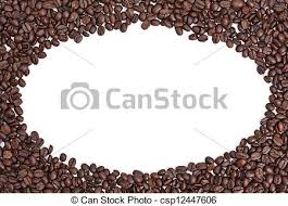 Coffee Bean Border A Round Frame Made Out Of Beans Isolated