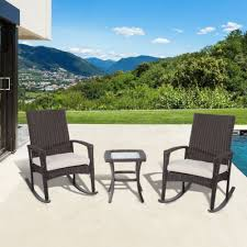 Outsunny Patio Furniture Cushions by Outsunny Patio Furniture Outsunny 4pc Patio Furniture Rattan Sofa