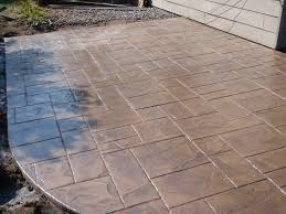 Inexpensive Patio Floor Ideas by Decorating Eagle Stamped Concrete Patio With Top Concrete