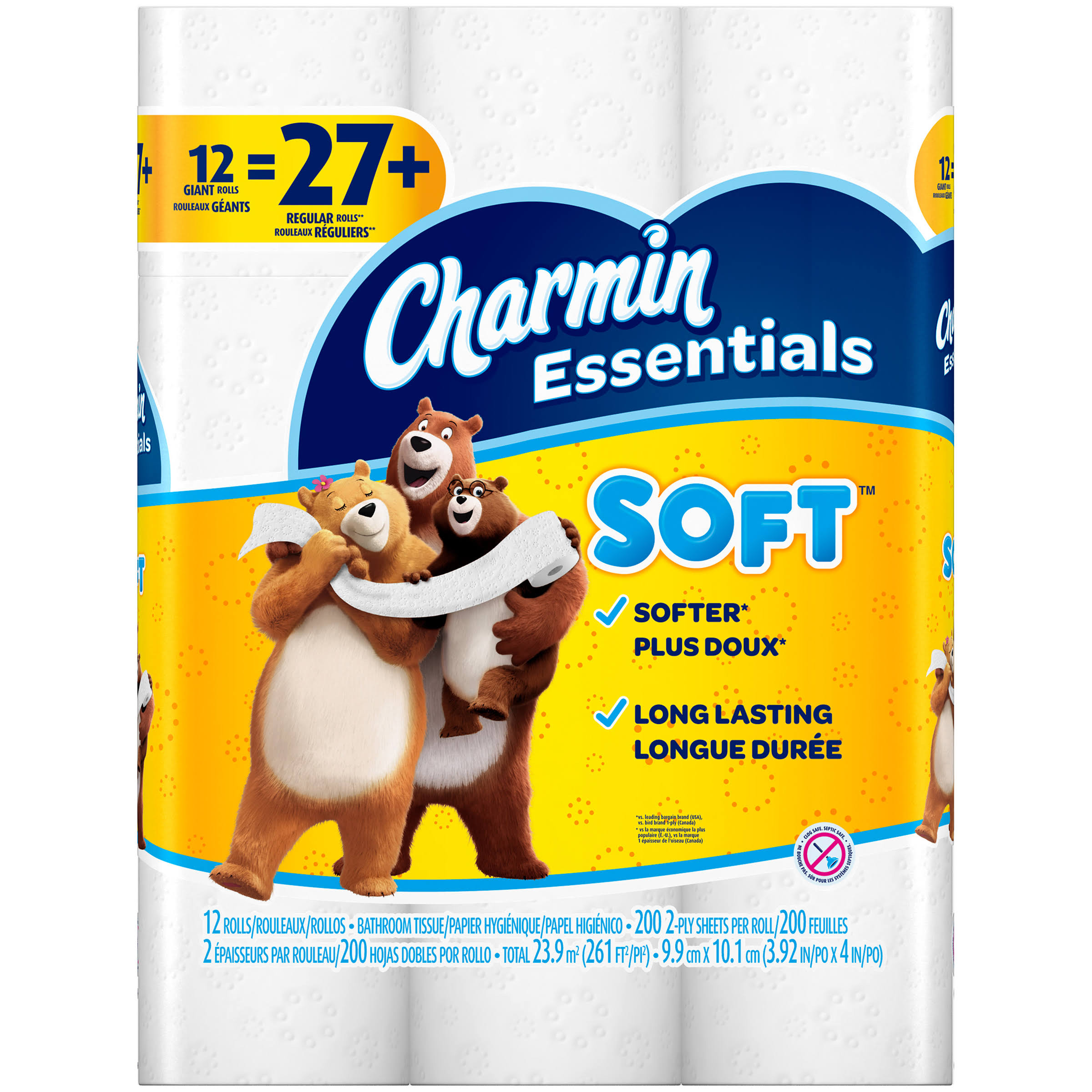 Charmin Essentials Toilet Tissue - 48 Giant Rolls