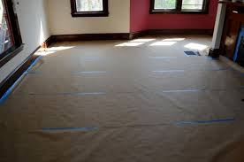 Temporary Floor Covering Floors In Brown Craft Paper To Protect The Finish