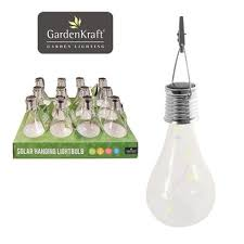 solar hanging glass bulb light with hook