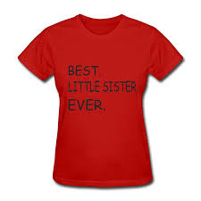 Amazon.com: ASDFIN BEST LITTLE SISTER EVER Women's Summer Street ...