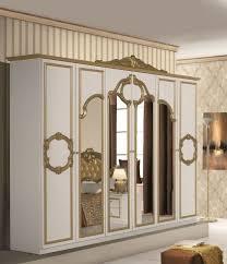 bellaa kleiderschrank 6 trg barock gold weiß
