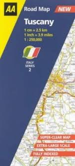 Tuscany AA Road Map Italy By Aa 0749528877 The Fast Free