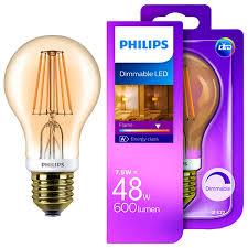 philips led filament classic bulb 48w a60 es sainsbury s