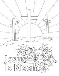 Jesus Is Risen Easter Coloring Page
