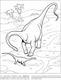 Dinosaur Coloring Page From Book Dinosaurs Dover Publications