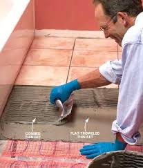 heating mats for tile floors install electric radiant heat mat