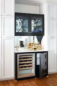 Built In Bar Fridge Type For End Dining Table Glass Storage But No