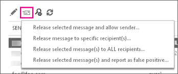 Find and release quarantined messages as an administrator