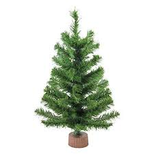 Northlight Mini Pine Artificial Christmas Tree In Wood Base Brown
