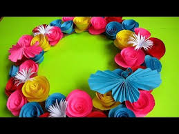 Simple Home Decor Wall Decoration Door Hanging Flower Paper Craft Ideas