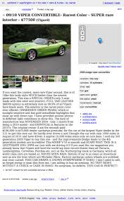 For $77,500, This 2009 Dodge Viper Is A Snake Of A Different Color Craigslist Portland Cars Trucks By Owner Best Car 2017 Salem Oregon Used And Other Vehicles Under Olympic Peninsula Washington For Sale By Crapshoot Hooniverse Craiglist Tools Automoxie Salesforce Old Town Music Image Truck Kennewick Wa For Legacy Ford Lincoln Dealership In La Grande Or Vancouver Clark County This 67 Camaro Is An Untouched Time Capsule It Could Be Yours